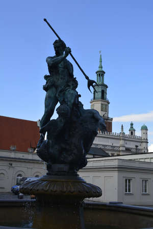 poznan: Statue at Poznan Market