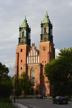 poznan: Poznan cathedral church Stock Photo