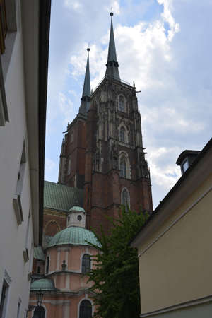 wroclaw: Wroclaw cathedral church Stock Photo
