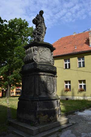 sycamore: Statue in Sycamore Stock Photo
