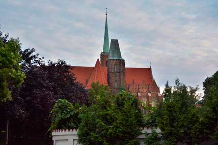 wroclaw: Holy Cross church in Wroclaw Stock Photo