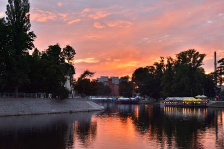 wroclaw: Evening in Wroclaw Stock Photo
