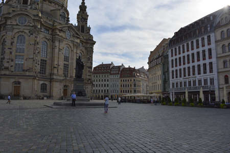 dresden: New Market Square in Dresden Editorial