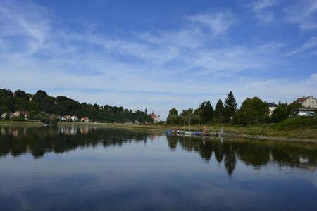 elba: Reflections in the river Elba