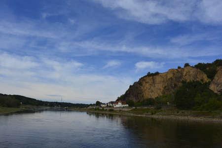 elba: The river Elba bend Stock Photo