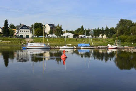 elba: Boats on the river Elba