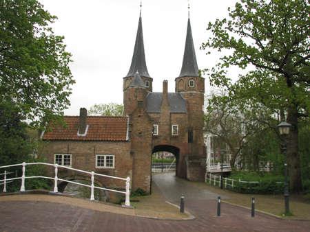delft: Old city gate of Delft