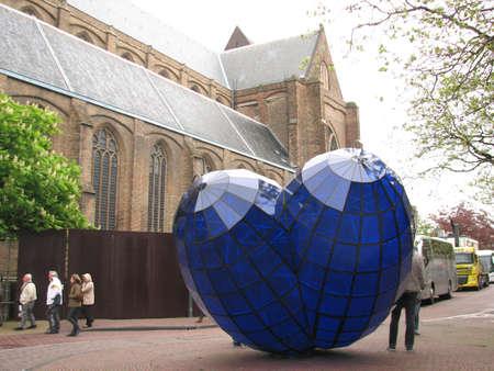 delft: Blue Heart sculpture in Delft