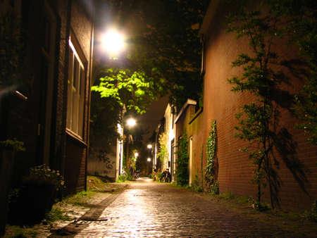 delft: Night street in Delft