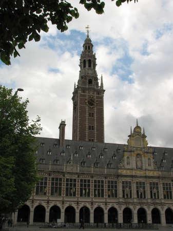 leuven: Decorated building in Leuven