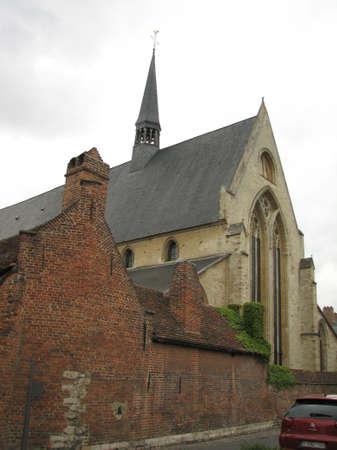 leuven: Old church in Leuven Stock Photo