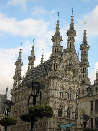 leuven: Townhouse of Leuven Stock Photo