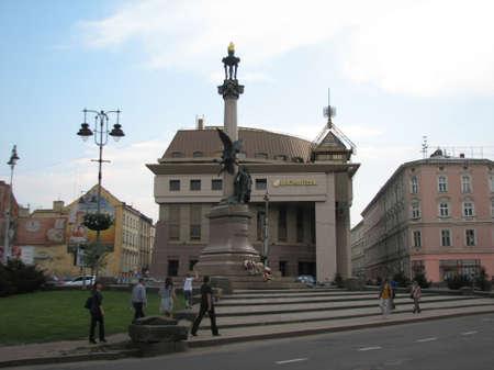 lviv: Mickiewicz monument in Lviv