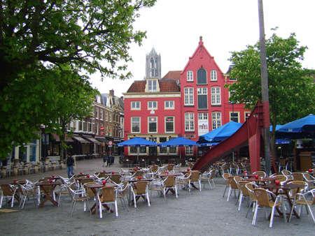 utrecht: Market street of Utrecht Editorial