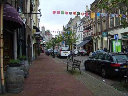utrecht: Decorated street in Utrecht