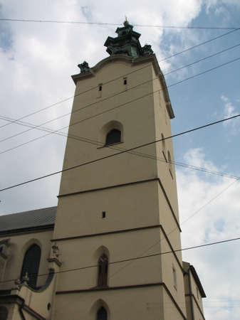 lviv: Old church in Lviv Stock Photo