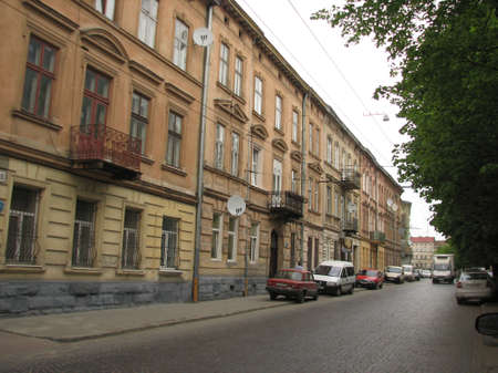 lviv: Quiet street in Lviv