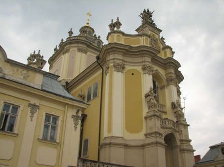 lviv: St.Georges cathedral in Lviv Stock Photo