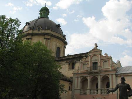 lviv: Old huge church in Lviv