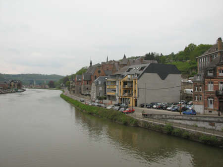 meuse: Bank of the Meuse river in Dinant Stock Photo