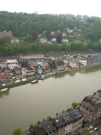 meuse: Meuse river in Dinant Stock Photo