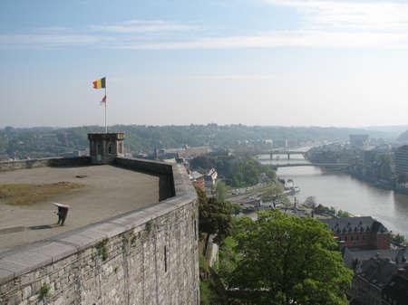 meuse: Meuse river panorama from Namur Citadel