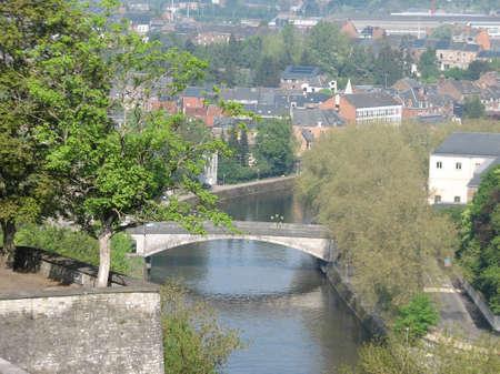 walloon: Bridge over Sambre river view from Namur Citadel