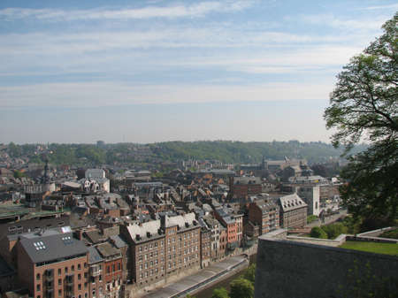walloon: Namur view from Citadel Stock Photo