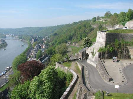 walloon: Hills of Walloon capital of Namur Stock Photo