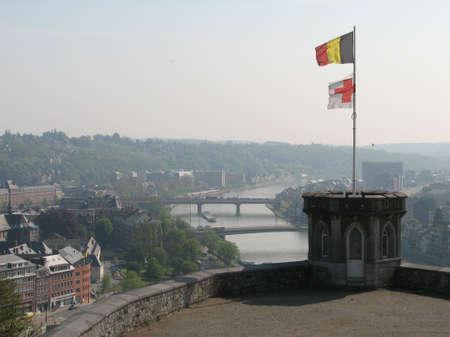meuse: Meuse river in Namur Stock Photo