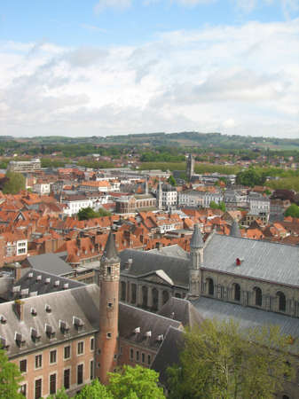 walloon: Tournai view from the belfry Stock Photo