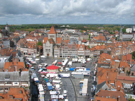 walloon: Market square of Tournai from the belfry