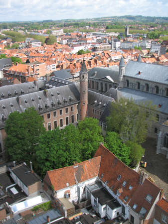 walloon: Tournai city view from the belfry