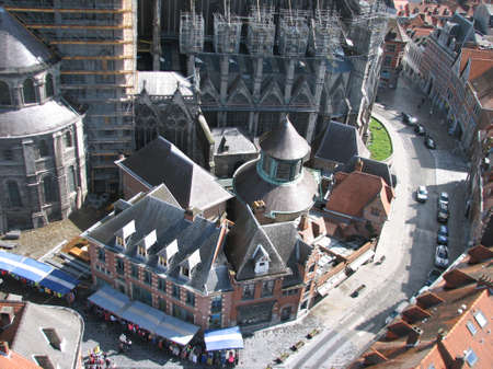 walloon: Tournai cathedral view from the belfry Stock Photo