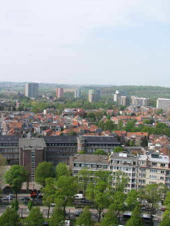 hight: Brussels view from the hight of the birds fly Stock Photo