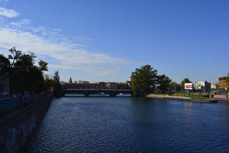 wroclaw: Oder river in Wroclaw