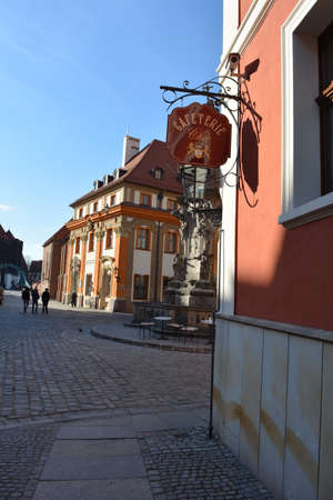 wroclaw: Cathedral street in Wroclaw