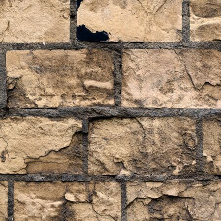 Texture of an old brick wall. The outer wall of a very old building. Multitask background.