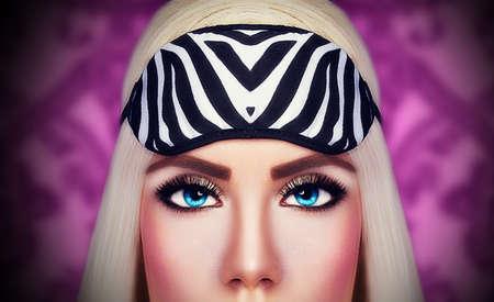 beaux yeux: Beaux yeux de jeune fille blonde