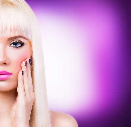 Beautiful girl with manicure photo