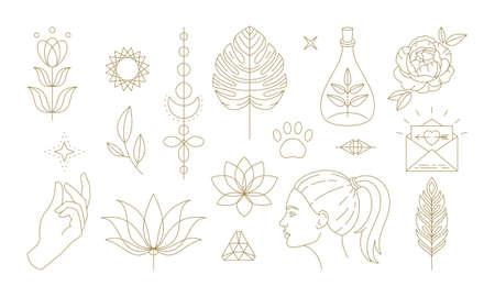 Floral symbols for femininity representation in culture 일러스트