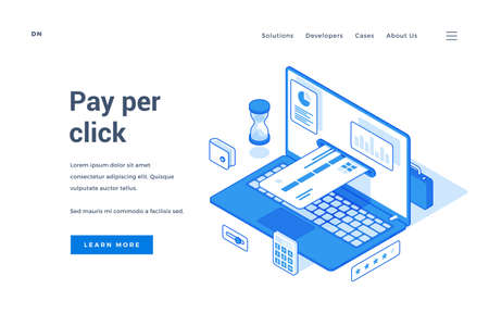 Web banner for easy online payment service