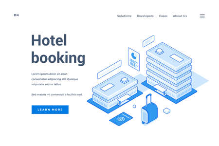 Web banner for hotel booking service advertisement 일러스트