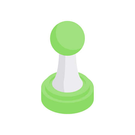 Chess pawn isometric icon. Starting combat figure ancient strategy game.