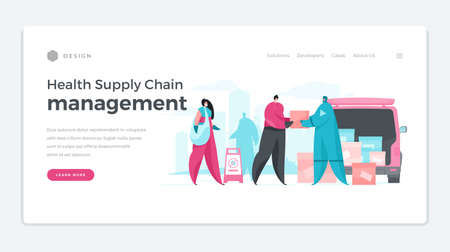 Banner for modern service of chain management maintenance