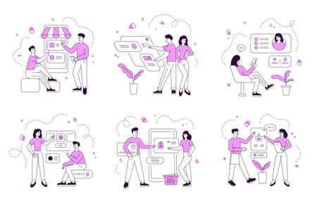 Modern people browsing data in social media