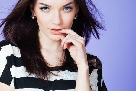 young girl: girl model fashion female young beauty beautiful Stock Photo