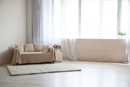 photo studio: Photo Studio with a sofa and window Stock Photo