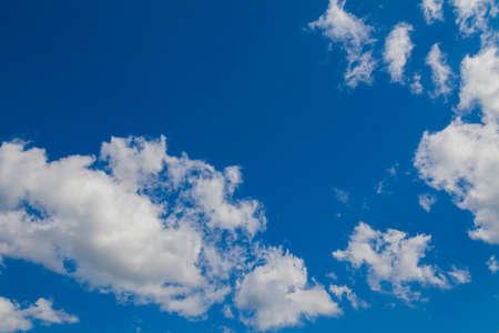 cumuli: a beautiful blue sky and white clouds Stock Photo