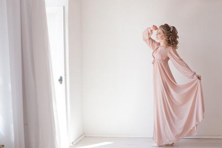 girl in lingerie Pajamas pink